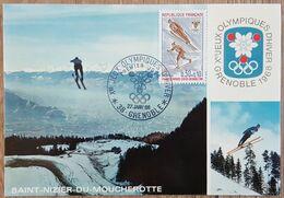 CM 1968 - YT N°1543 - JEUX OLYMPIQUES D'HIVER - GRENOBLE - 1960-69