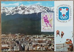 CM 1968 - YT N°1544 - JEUX OLYMPIQUES D'HIVER - GRENOBLE - 1960-69