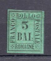 1859. ITALY, ROMAGNA, 3 BAI STAMP, MH - Romagna