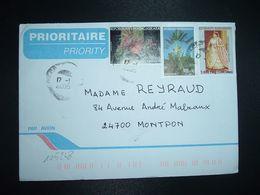 LETTR Pour La FRANCE TP RANAVALONA 7.500 Fmg + RAVINALA 900 Fmg + TAMBOURISSA 600 Fmg OBL.17-1 2006 DIEGO-SUAREZ - Madagascar (1960-...)