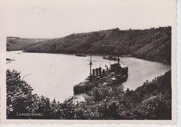 CPSM Landévennec - Rivière De L'Aulne - La Profondeur De Cette Anse De Penforn ... Navires De Guerre Désarmés ... - Landévennec