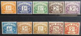 Gran Bretaña: Año. 1955 -1957 (Cifras. Filigrana, Tipos. 165 - Corona, San Eduardo - Múltiples) - Tasse