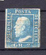 1859. ITALY, SICILY, 2 GR.POSTAL STAMP, USED - Sicily