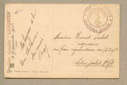 Torpilleur D'escadre Dehorter Sur Carte Postale De Tarante En Franchise Service à La Mer Novembre 1916 - WW I
