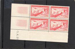 Fezzan - 1951 - Poste Aérienne PA N°Yv. 7 - Fort De Sebha - Bloc De 4 Coin Daté - Neuf Luxe ** - Ongebruikt