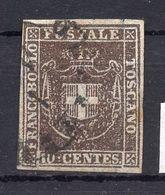 1851. ITALY, TOSCANY, 10 CENTS, POSTAL STAMP, USED - Tuscany
