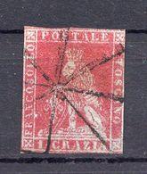 1860. ITALY, TOSCANY, 1 GRAZIE, POSTAL STAMP, USED - Tuscany