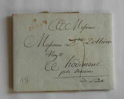 Ardennes 1797 – Marque 7 SEDAN – DE THIER Hodimont – LABAUCHE Sedan - Storia Postale