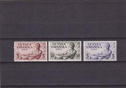 Guinea Española Nº 311 Al 313 Con Charnela Y Oxido - Ifni