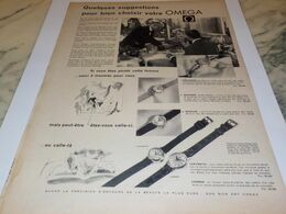 ANCIENNE PUBLICITE BIEN CHOISIR VOTRE   MONTRE OMEGA 1958 - Bijoux & Horlogerie
