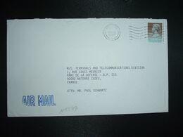 LETTRE Par AVION Pour La FRANCE TP  S 1,80 OBL.MEC.11 DEC 1990 HONG KONG - Hong Kong (...-1997)
