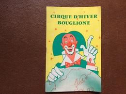 PROGRAMME BOUGLIONE  Cirque D'Hiver  SAISON 1959-1960 - Programmi