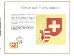 FEUILLE ARTISTIQUE (AVEC SOIE)  TP N° 1071  CP FDC DE DELEMONT DES EDITIONS...(VOIR LES 2 SCANS) - FDC