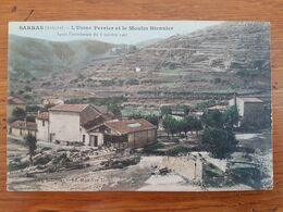 CPA - SARRAS - USINE PERRIER ET LE MOULIN - APRES INONDATION DE 1907 - Autres Communes