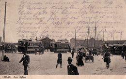 Libau. Am Hafen. Feldpost 1918. (Liepāja, Лиепая). - Latvia