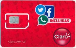 COLOMBIA CLARO GSM (SIM) CARD INCLUIDAS MINT UNUSED - Colombia