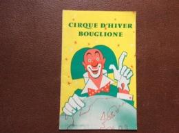 PROGRAMME BOUGLIONE  Cirque D'Hiver  SAISON 1960-1961 - Programmi