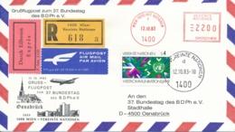 Grussflugpost Zum 37. Bundestag Des BDPh E. V. Ab Vereinte Nationen Wien Nach Osnabrück - Poste Aérienne