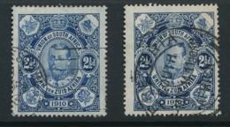 SOUTH AFRICA, 1910 2.5d Deep Blue, Blue Fine - Afrique Du Sud (...-1961)