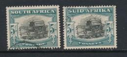 SOUTH AFRICA, 1947 (screened Rotogravure) 5/-type 1 Pair Fine, SG122, Cat GBP4 - Afrique Du Sud (...-1961)