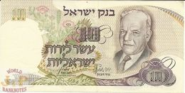 ISRAEL 10 LIROT 1968 PICK 35b XF+ - Israel