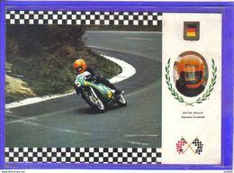 Carte Postale Grand Prix Moto Sur Circuit  Dieter Braun  Allemand Pilote Très Beau Plan - Sport Moto