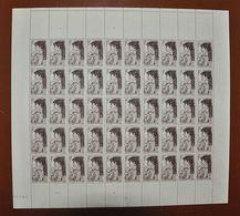 Feuille Complète De 50 Valeurs France 1945 - N° 738 - Sarah Bernhart - Neuf ** - Feuilles Complètes