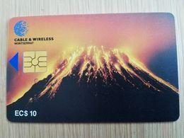 MONTSERRAT  $10,- $20,-  CHIPCARD  VULCANO  Gem 5   Fine Used Cards   ** 2725 ** - Montserrat