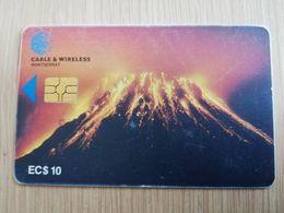 MONTSERRAT  $10,- $20,-  CHIPCARD  VULCANO  Gem 6   Fine Used Cards   ** 2726 ** - Montserrat