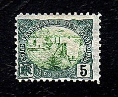 Cote Française Des Somalies 5f - 1943 - French Somali Coast (1894-1967)