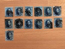 Lot De 13 Médaillons N° 11/11A Pour études Diverses 4 Marges Pour Tous Les Timbres TB Voir Scans - 1858-1862 Medallions (9/12)