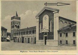 Migliarino - Piazza Regina Margherita E Chiesa Arcipretale - Ferrara - H6977 - Ferrara