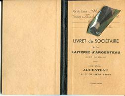 HERMEE / ARGENTEAU / LAITERIE / LIVRET DE SOCIETAIRE / CULTIVATEUR - Manuskripte