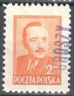 "Poland 1950 - Pres. Boleslaw Bierut - Surcharged ""GROSZY""  Fi.470 - MNH(**) - Unused Stamps"