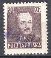 "Poland 1950 - Pres. Boleslaw Bierut - Surcharged ""GROSZY""  Fi.522- MNH(**) - Unused Stamps"