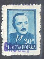 "Poland 1950 - Pres. Boleslaw Bierut - Surcharged ""GROSZY""  Fi.477 - MNH(**) - Unused Stamps"