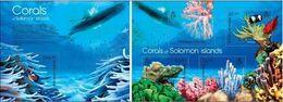 Salomon 2013, Animals, Corals, Fish, Submarine, 4val In BF +BF - Submarines