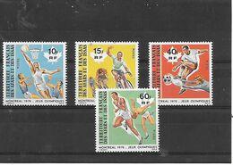 Ex Colonies Française     Afars Et Issas  Serie De 4 Timbres ** - Afars & Issas (1967-1977)
