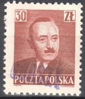 "Poland 1950 - Pres. Boleslaw Bierut - Surcharged ""GROSZY""  Fi.524 - MNH(**) - Unused Stamps"