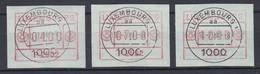 Luxemburg ATM P2502 Tastensatz 4-7-10 Mit ET-O 10.7.84 - Vignettes D'affranchissement