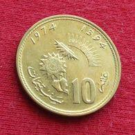 Morocco 10 Santimat 1974 Y# 60 Fao F.a.o.  *V2 Maroc Marrocos Marokko Marruecos - Maroc