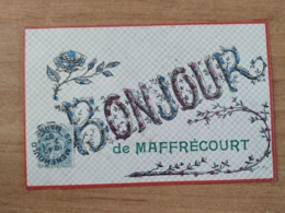 CPA - Maffrécourt (51) - Bonjour Reliefs Pailletes - Ansichtskarten