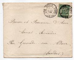 Tunisie--1896--Lettre De TUNIS Pour GRENADE/ ADOUR-40 (France)..timbre,cachet Régence De Tunis - Tunisie (1888-1955)