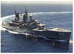 (E 1) Australia - RAN Warship HMAS Stuart (with Stamp) - Fidschi