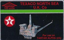 UK(L&G) - Tartan Alpha, Texaco North Sea(CUR026, 100 Units), Tirage 17968, CN : 068E, Used - Petrolio