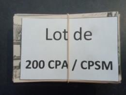 1lo - A259   Lot De 200 CPA / CPSM Format CPA SEINE MARITIME Dep 76 ( Pas De ROUEN ) - 100 - 499 Cartes