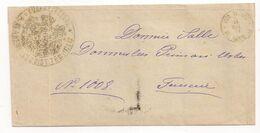 Romania Stampless Letter Rural Postmark Pl. BERHECI To TECUCIU, Scarce! - 1858-1880 Moldavie & Principauté