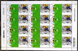 Brazil Stamp C 2449 World Football Champions Seal Flag Italy Uruguay Germany France Argentina England 2002 Sheet - Ungebraucht