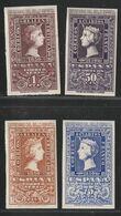1950. * Edifil: 1075/76, 1079/80. CENTENARIO DEL SELLO ESPAÑOL-Serie Corta - 1931-Hoy: 2ª República - ... Juan Carlos I