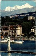 3PSO 62. GENEVE - ENTREE DE LA RADE ET LE MONT BLANC - GE Genève